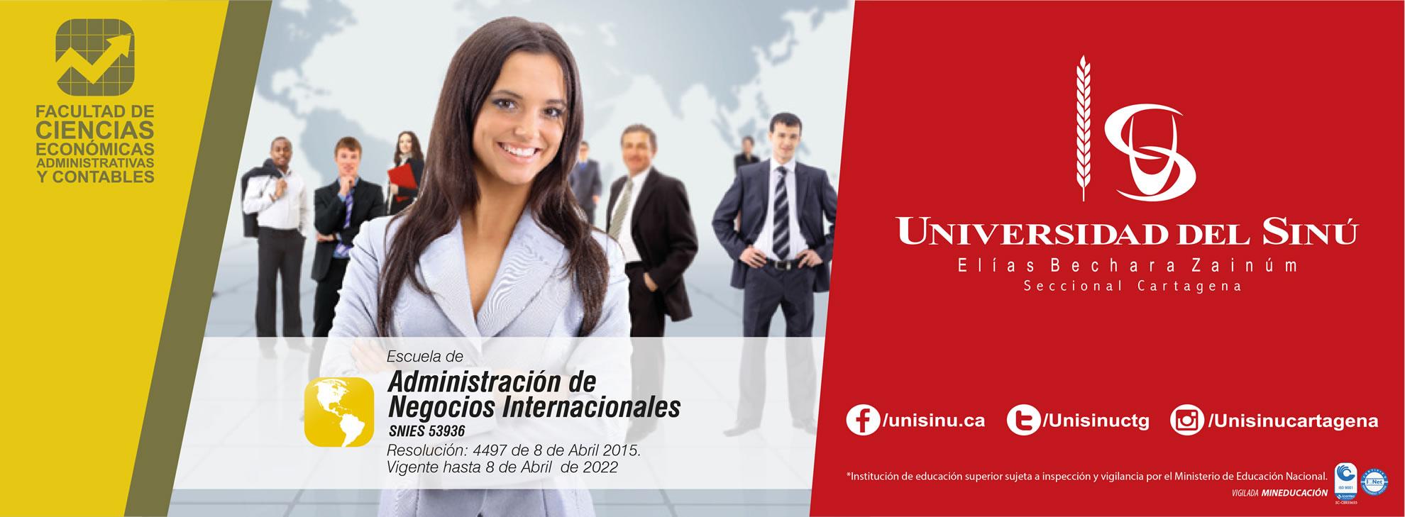 Administración de Negocios Internacionales -SNIES:53936