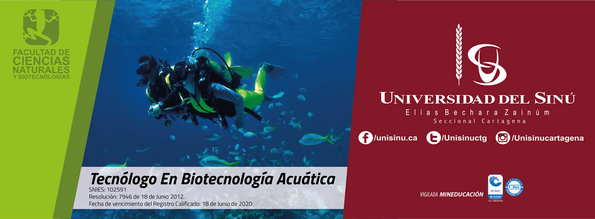 Tecnólogo en Biotecnología Acuática-SNIES:102591